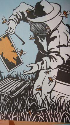 super cool honey bee art by Nikki McClure : http://www.nik… | Flickr