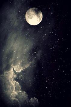 Sun moon, stars and moon, dark moon, moon and stars wallpaper, ciel Stars Night, Stars And Moon, Moon Moon, Dark Moon, Moon Art, Blue Moon, Moon Pictures, Pretty Pictures, Full Moon Photos