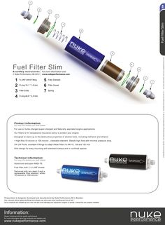Nuke Performance - Fuel Filter Slim
