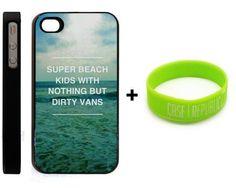 BUNDLE! Apple iPhone 4 4G 4S Super Beach Kids Cody Simpson Quote Design + Unique Silicone Wristband BLACK HARD PLASTIC SLIM FIT Case Cover Skin Mobile Phone Accessory CASE REPUBLIC PACKAGING by Generic, http://www.amazon.com/dp/B00BU15RUQ/ref=cm_sw_r_pi_dp_I3hurb0TDEAT7