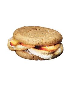 Give roasted marshmallows a sophisticated spin by pairing with sweet summer peaches and dark, spicy molasses cookies.