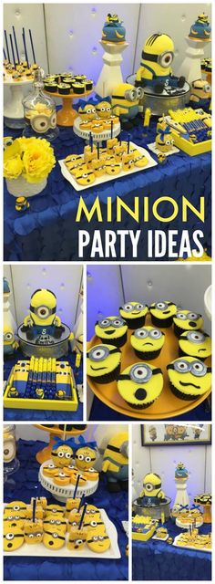 What a fun Despicable Me party with lots of Minions! See more party ideas at CatchMyParty.com!