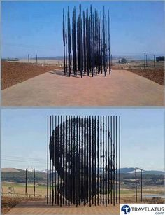 Nelson Mandela sculpture in Hovik, South Africa