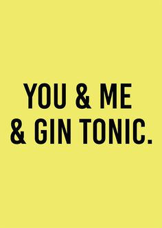 Poster You & Me & Gin Tonic
