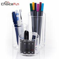 CHOICEFUN New Acrylic Desk Organizer Office Organizer Accessories Box Easy DIY Pen Holder Multifunction Tool Organizer SF-243675