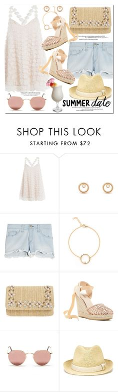 """""""Summer Date: The Beach"""" by monica-dick ❤ liked on Polyvore featuring SLY 010, rag & bone, Glint, Catherine Catherine Malandrino, Ray-Ban, Heidi Klein, beach and summerdate"""