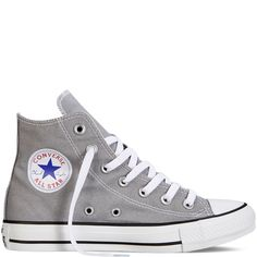 Converse -Chuck Taylor All Star Fresh Colors-Dolphin-Hi Top from Converse. Shop more products from Converse on Wanelo. Mode Converse, Converse Haute, Grey Converse, Outfits With Converse, Converse Classic, Boot Outfits, Girl Outfits, Grey Trainers, Grey Sneakers