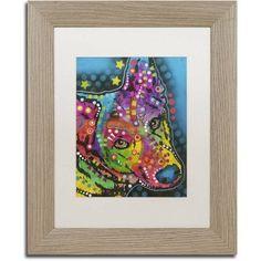 Trademark Fine Art 8 inch Canvas Art by Dean Russo, White Matte, Birch Frame, Size: 16 x 20, Brown