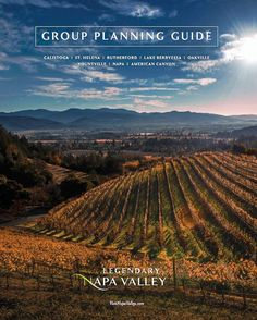 My photo is on the cover of the Visit Napa Valley catalog