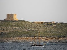 A tower on Comino, Malta Malta Gozo, Monument Valley, Travel Photography, Tower, Nature, Beautiful, Lathe, Nature Illustration, Off Grid