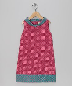 Look at this Pink Geometric Shift Dress - Toddler & Girls on #zulily today!