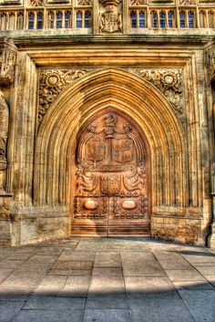 aDOORation |Bath Abbey detailed door | Bayer Built Woodworks