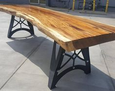 Live Edge Dining Table Reclaimed Acacia Wood Solid Slab (Natural Shape)