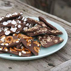 Hazelnut, Pumpkin Seed, And Pistachio Dark Chocolate Bark Recipe ...