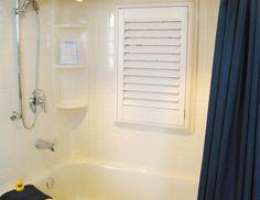 vinyl shutters for shower window - Google Search