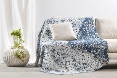 Peiraiki-Patraiki Throw Nefeli-Blue Bed & Bath, Decorative Throw Pillows, Bean Bag Chair, Accent Chairs, Blue, Furniture, Collection, Home Decor, Upholstered Chairs