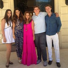 """Patrick Schwarzenegger wrote """"Great shot of the family on Mother's Day"""". *From left: Christina, Katherine, Maria Shriver, Christopher, Patrick."""