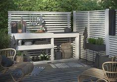 Lite lycka i bildform Garden Office, Balcony Garden, Outdoor Dining, Outdoor Decor, Rustic Outdoor, Garden Furniture, Outdoor Furniture Sets, Summer Kitchen, Back Patio
