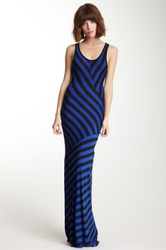Stripe Print Maxi Dress on HauteLook