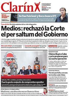 Ley de medios: La Corte rechazó el per saltum del Gobierno por unanimidad. Más información: http://www.clarin.com/politica/Ley-medios_0_826717337.html
