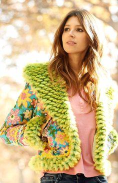Green flower jacket World FAmily Ibiza