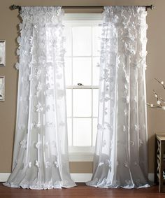 Look at this White Riley Window Curtain Panel on #zulily today!