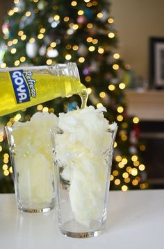 With New Year's Eve just around the corner, we have an incredibly light and fun way to include your children in the festivities with a fun kid mocktail featuring cotton candy and pineapple soda. This delightful, sweet and fizzy kids drink is sure to be a hit with any kid or adult who prefers a sweet, non-alcoholic sip.