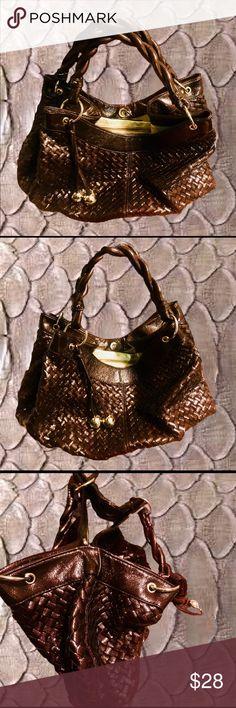 LOEFFLER RANDALL for Target New! Loeffler Randall for Target shiny brown and glittery gold handbag. New without tags! Loeffler Randall Bags Hobos