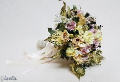 Gisela - Αποξήρανση ανθοδέσμης Wedding Bouquets, Floral Wreath, Crown, Wreaths, Jewelry, Decor, Floral Crown, Corona, Jewlery