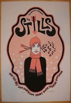 2004 The Stills - Silkscreen Concert Poster by Tara McPherson