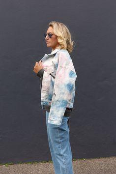 Tie-Dye Denim Jacket Tie Dye Sweatshirt, Fashion Labels, Shop Now, Campaign, Kimono Top, Denim, Sweatshirts, Jackets, Shopping