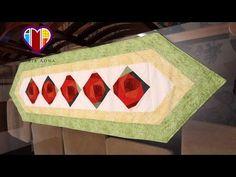Caminho/trilho de mesa em patchwork Flores II - Maria Adna Ateliê - Cursos e aulas de patchwork - YouTube