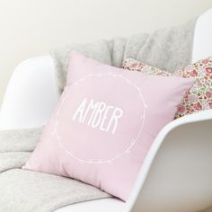 Personalised cushion with Liberty reverse