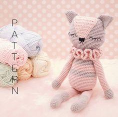 Amigurumi crochet cat doll - Sienna the Kitten PATTERN ONLY (English)