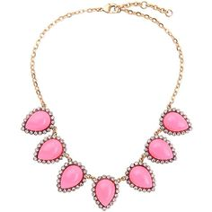 New Fashion Drop Dangle Statement Necklace With Pink Resin Gems (805 RUB) ❤ liked on Polyvore featuring jewelry, necklaces, pink necklace, gem necklace, gem pendant necklace, gemstone statement necklace and statement necklaces
