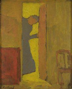 Edouard Vuillard. The artists mother opening a door. 1891-92.