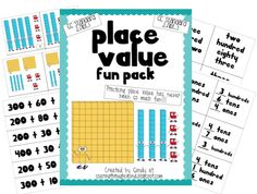Soaring Through Second Grade: $5 Place Value Fun and a Freebie!!! Math Place Value, Place Values, Envision Math, Second Grade Math, First Grade, Teachers Aide, Math Resources, Math Activities, Math 2