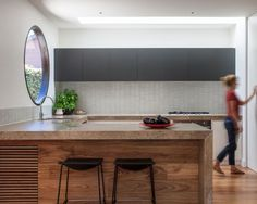 Hawthorn Residence two Kitchen by Doherty Lynch. This window has got to be one of our favourites to date.