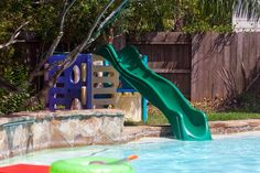 Little Tikes slide as pool slide.