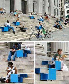 Mobiliario urbano para escaleras