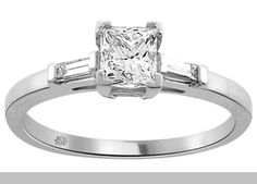 1.08 Carat Calista Diamond 14Kt White Gold Engagement Ring