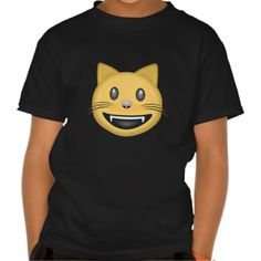 Smiling Cat Face With Open Mouth Emoji Tshirt