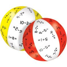Catch-A-Fact™ Addition And Subtraction Within 10 Beach Ball Set