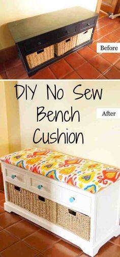 Awesome DIY Furniture Makeover Ideas:Creative Ways To Repurpose Old Furniture With Tutorials - Diy Furniture Beds Ideen Sewing Room Furniture, Diy Furniture Chair, Diy Pallet Furniture, Furniture Makeover, Furniture Stores, Furniture Removal, Furniture Movers, Street Furniture, White Furniture