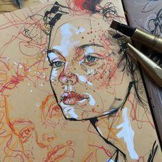 ᴾᵁᴸᴸᴵᴺᴳ ᴰᴼᵂᴺ ˢᵀᴬᴿˢ ᴶᵁˢᵀ ᵀᴼ ᴹᴬᴷᴱ. - A Level Art Sketchbook - Art Sketches, Art Drawings, Biro Drawing Sketches, Drawings Of Faces, Sketching, Drawing Tips, Drawing Ideas, Gcse Art Sketchbook, Sketchbooks