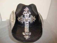 Handmade New Bret Michaels Crystals and Spikes Custom Cowboy Hat. $248.00, via Etsy.