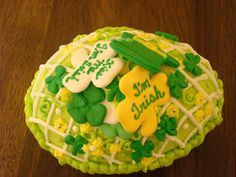 Shamrock sugar egg made by Karen Decker-Decker Family