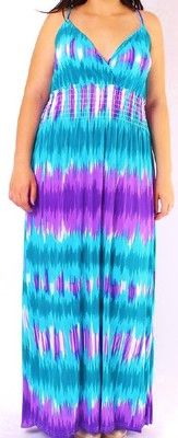 VIXEN * PURPLE & TURQUOISE TYE~DYE STYLE CROSS~OVER BUST MAXI DRESS 4x NWOT Blue Tie Dye, Tye Dye, Vixen, Baby Items, Cloths, Beautiful Dresses, Turquoise, Fashion Outfits, Purple