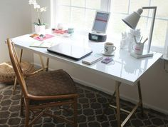 Gold A Frame Desk. Get the tutorial