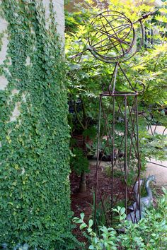 """creeping fig"" was the only word with this, but everything about the photo is wonderful- and a beautiful armillary sphere (sp?)"